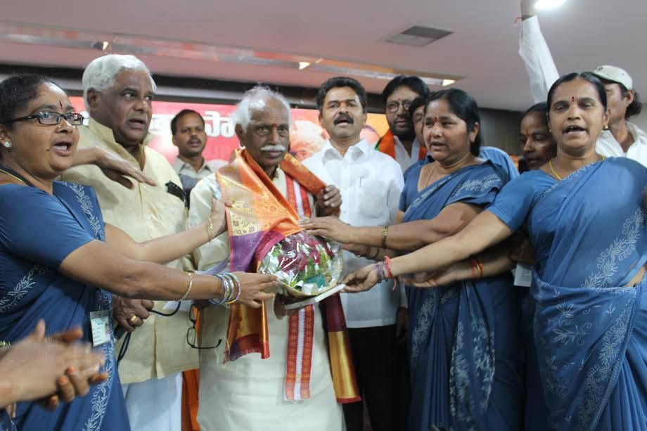 Felicitated by BJP Mazdoor Cell, Bharatiya Mazdoor Sangh ...