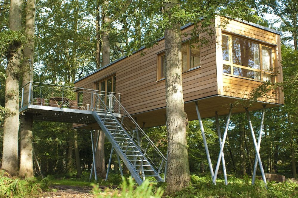 tree house holiday in bad zwischenahn germany all about container homes etc pinterest. Black Bedroom Furniture Sets. Home Design Ideas