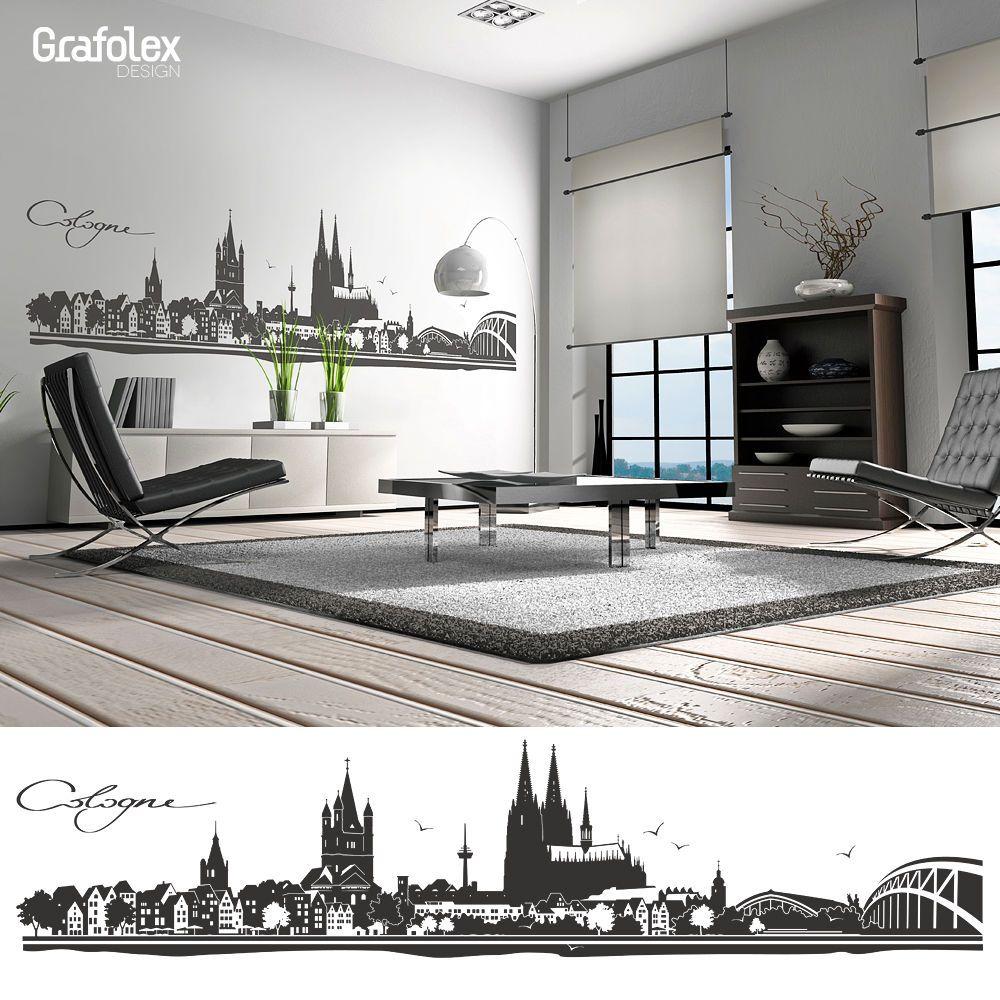Elegant Wandtattoo Köln Ideen Von KÖln Cologne Wandaufkleber Wandsticker Skyline 4 Größen