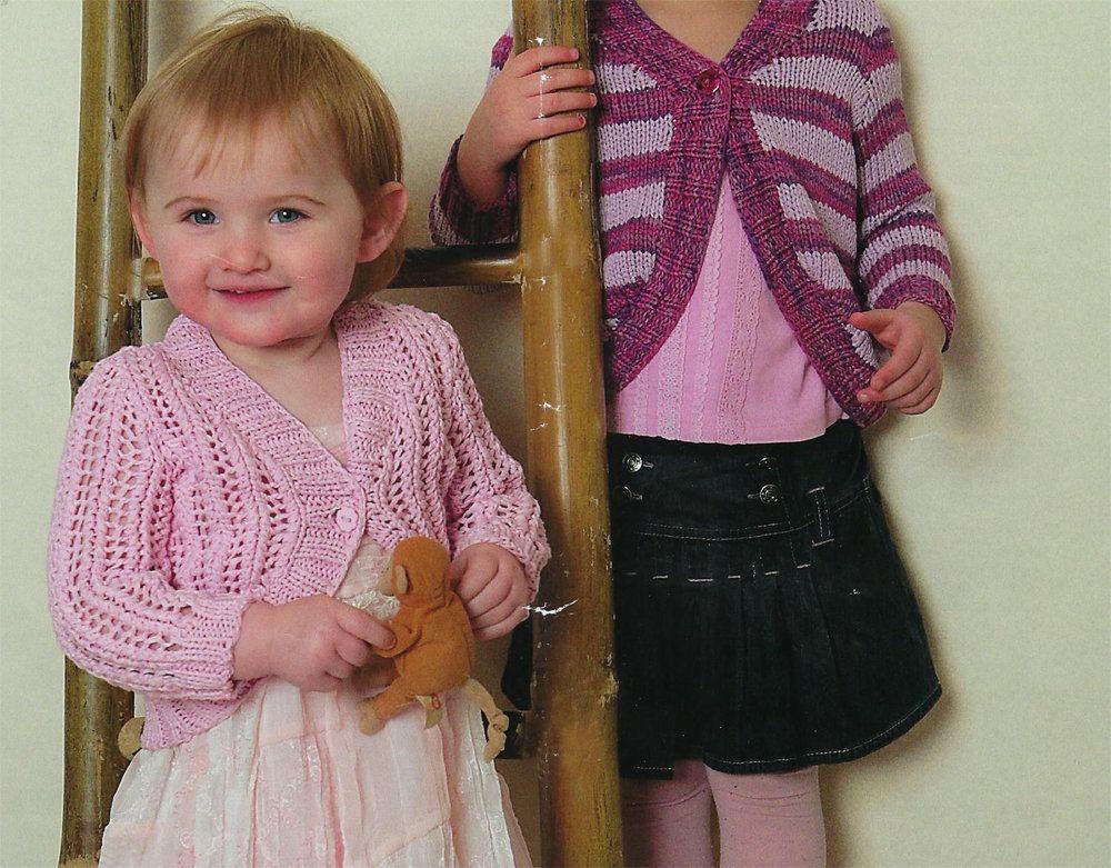 Pdf Instant Digital Download Baby Girls Striped Lacy Boleros