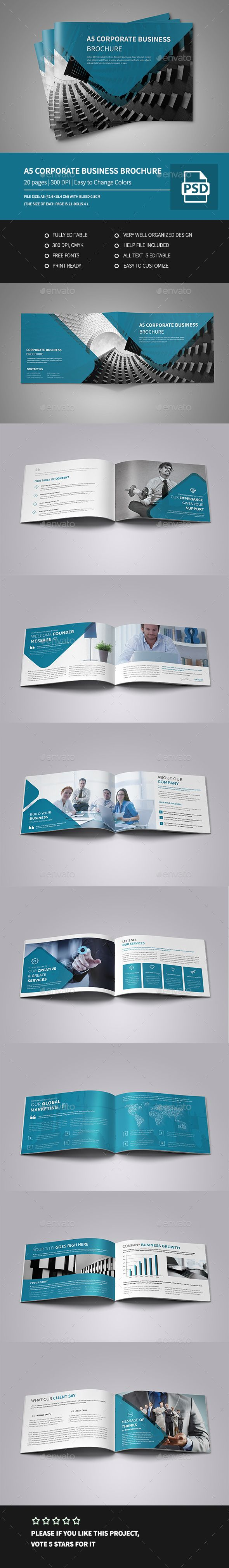 a5 landscape brochure template - a5 corporate business landscape brochure decoracion