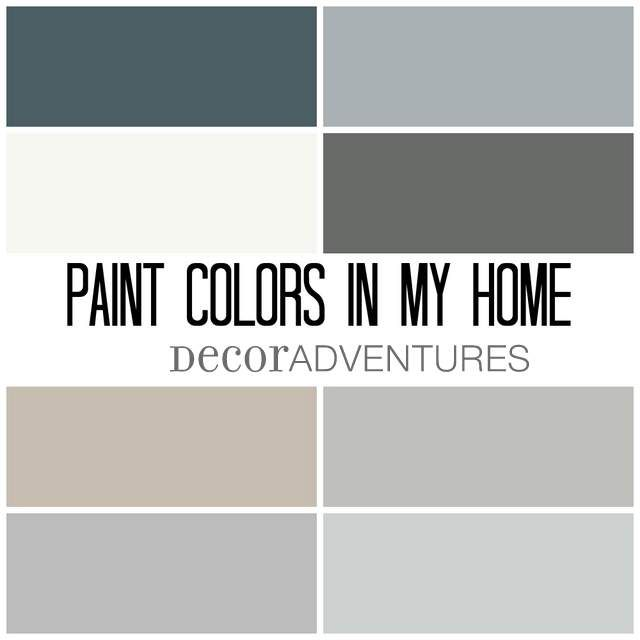 paint colors in my home + free printable