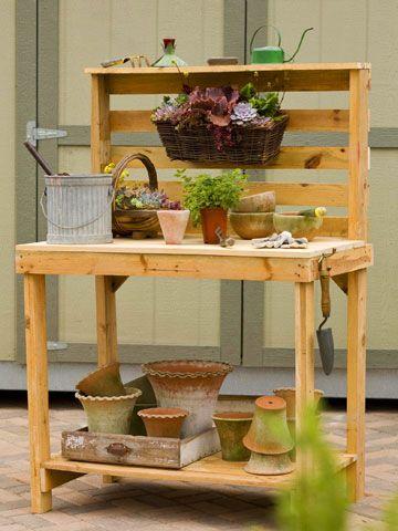 Make Your Own Potting Bench Cabeceira Para Jardinagem