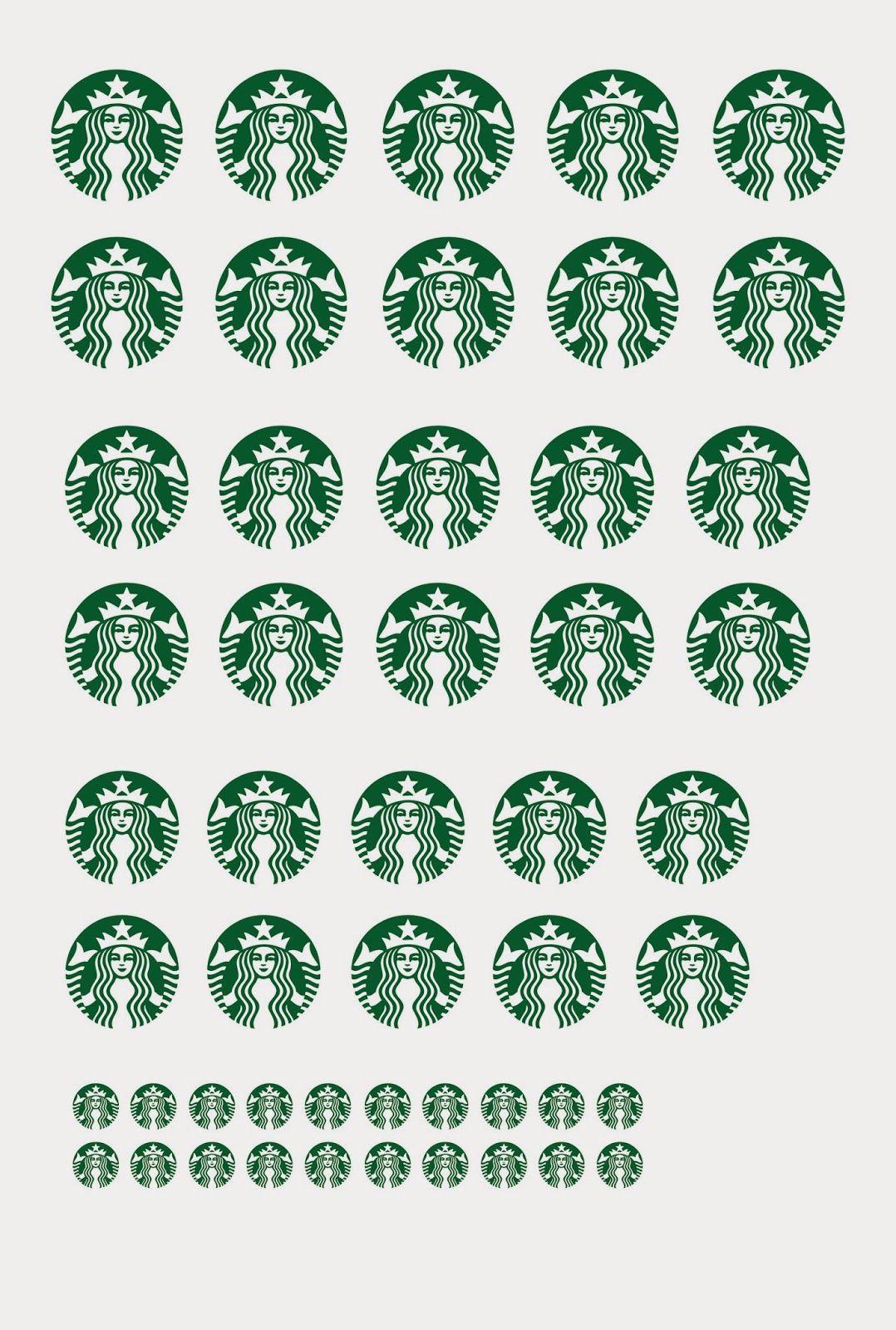 Printable Miniature Starbucks Logo