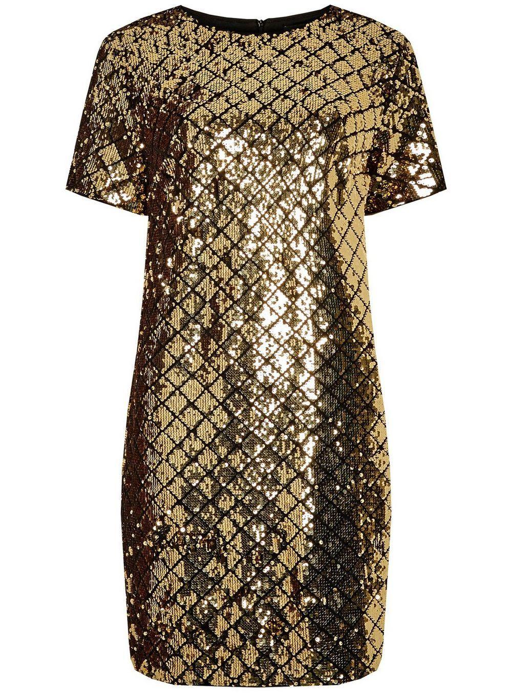 Gold Diamond Sequin Shift Dress Dorothy Perkins Shift Dress Mini Shift Dress Midi Shift Dress [ 1361 x 1000 Pixel ]