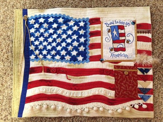 Hey, I found this really awesome Etsy listing at https://www.etsy.com/listing/489678343/patriotic-quilt-4-american-flag