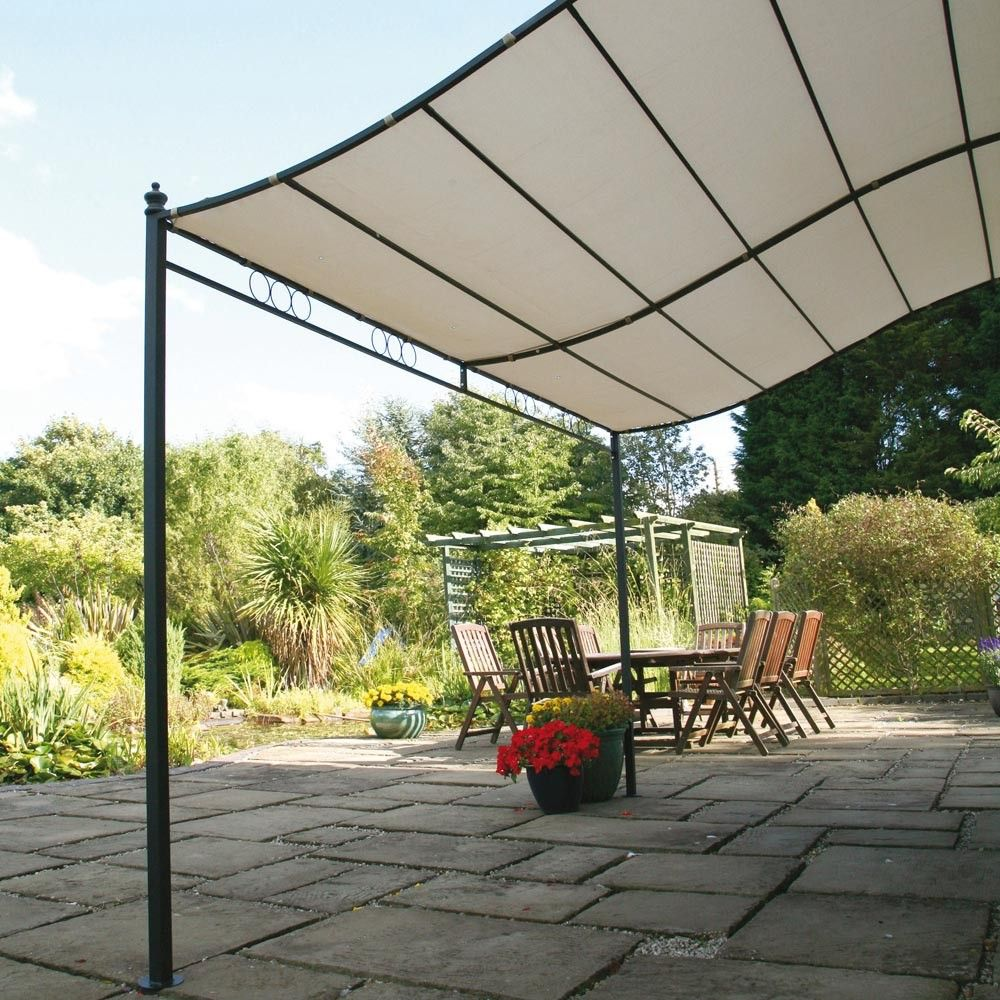 6 X 6 Outdoor Canopy | FT (2.5 x 2m) Wall Mounted Garden ...