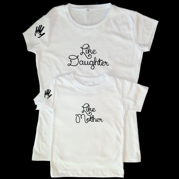 fd585bd6 Matching Mother and Daughter t-shirt set. Like by LittleandLarge ...