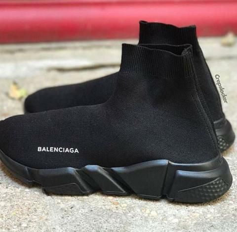 b70d782339 ... Authentic Balenciaga Sneakers, Real Balenciaga Sneakers, Really Cheap  Balenciaga Sneakers, Balenciaga Speed Stretch-Knit Mid Trainers Triple Noir