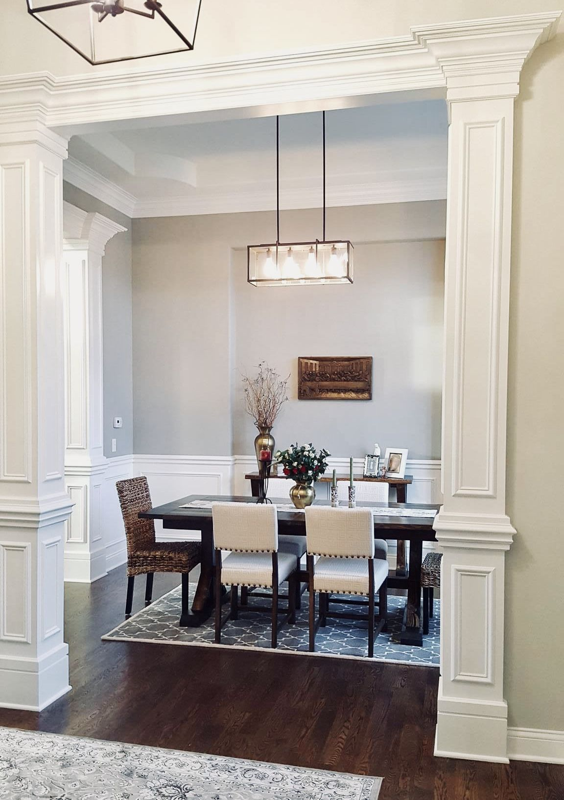 The dining room in our Kelsey ranch model features four custom ...