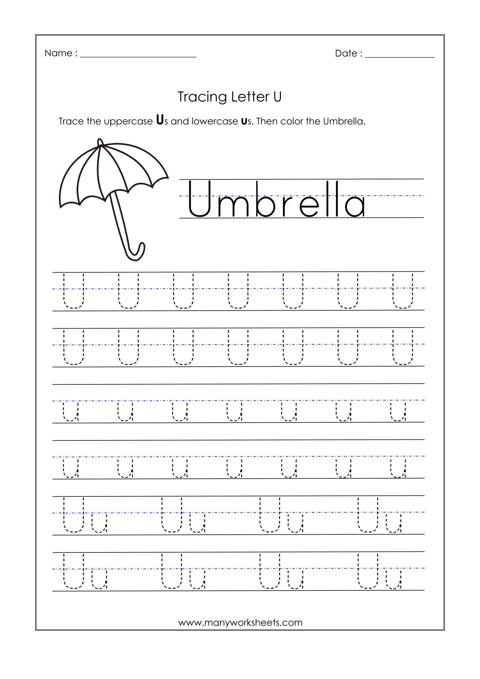 20 Letter U Worksheets For Kindergarten Debra Brown In 2020 Tracing Worksheets Preschool Handwriting Worksheets For Kids Kindergarten Worksheets