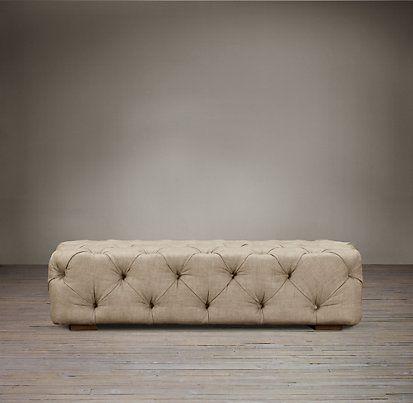 Ottomans, Benches & Stools   Restoration Hardware   sofa   Pinterest