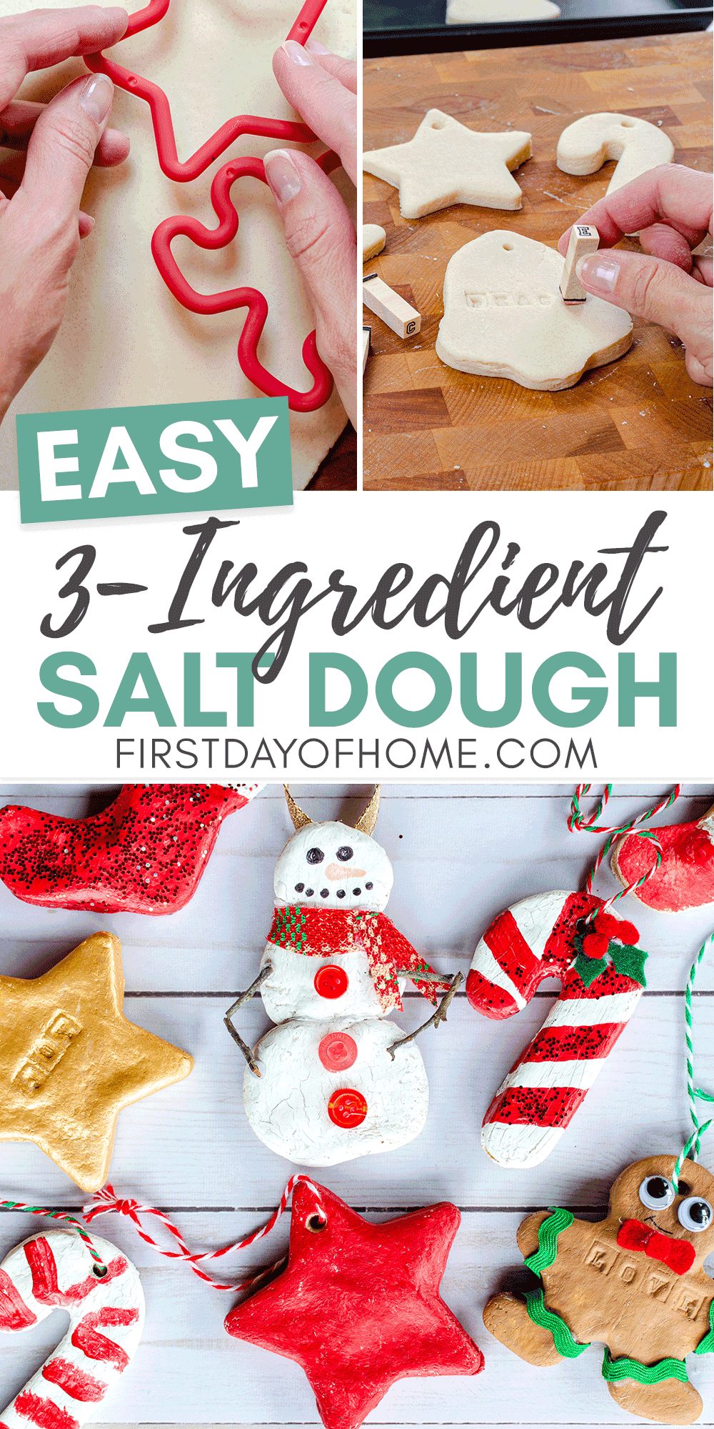 How To Make Salt Dough Ornaments The Kids Will Love Recipe Salt Dough Christmas Ornaments Food Ornaments Dough Ornaments