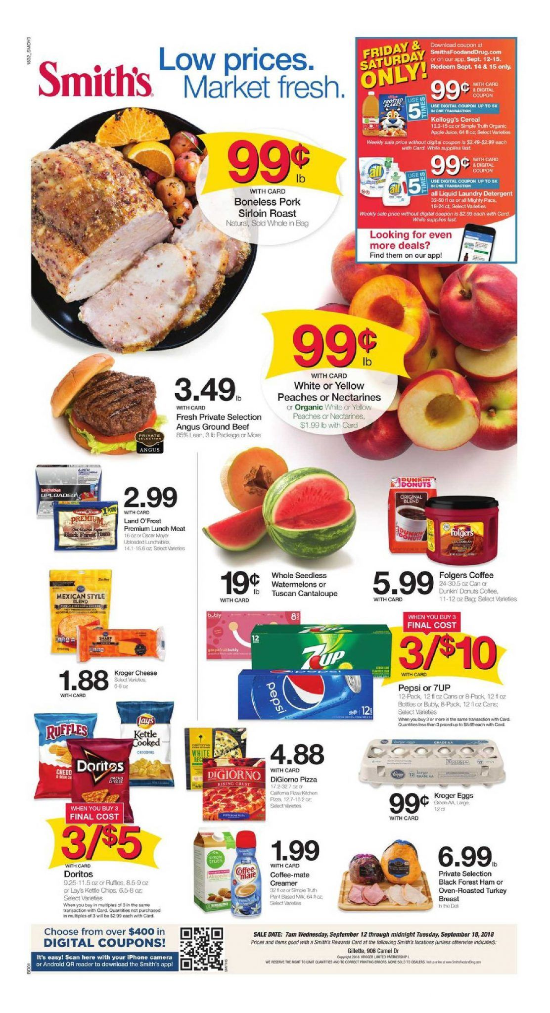 Browsing Latest Smiths Weekly Ad Flyer This Week Period September 12 18 2018