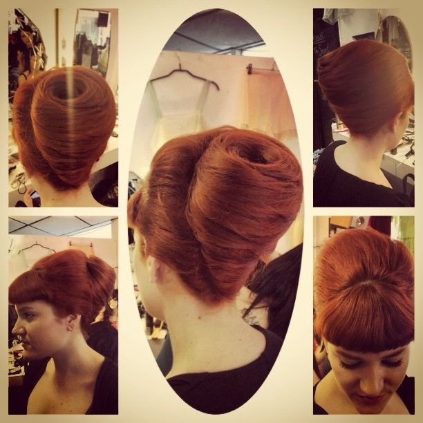 chignon babane cheveux roux · Pin Up