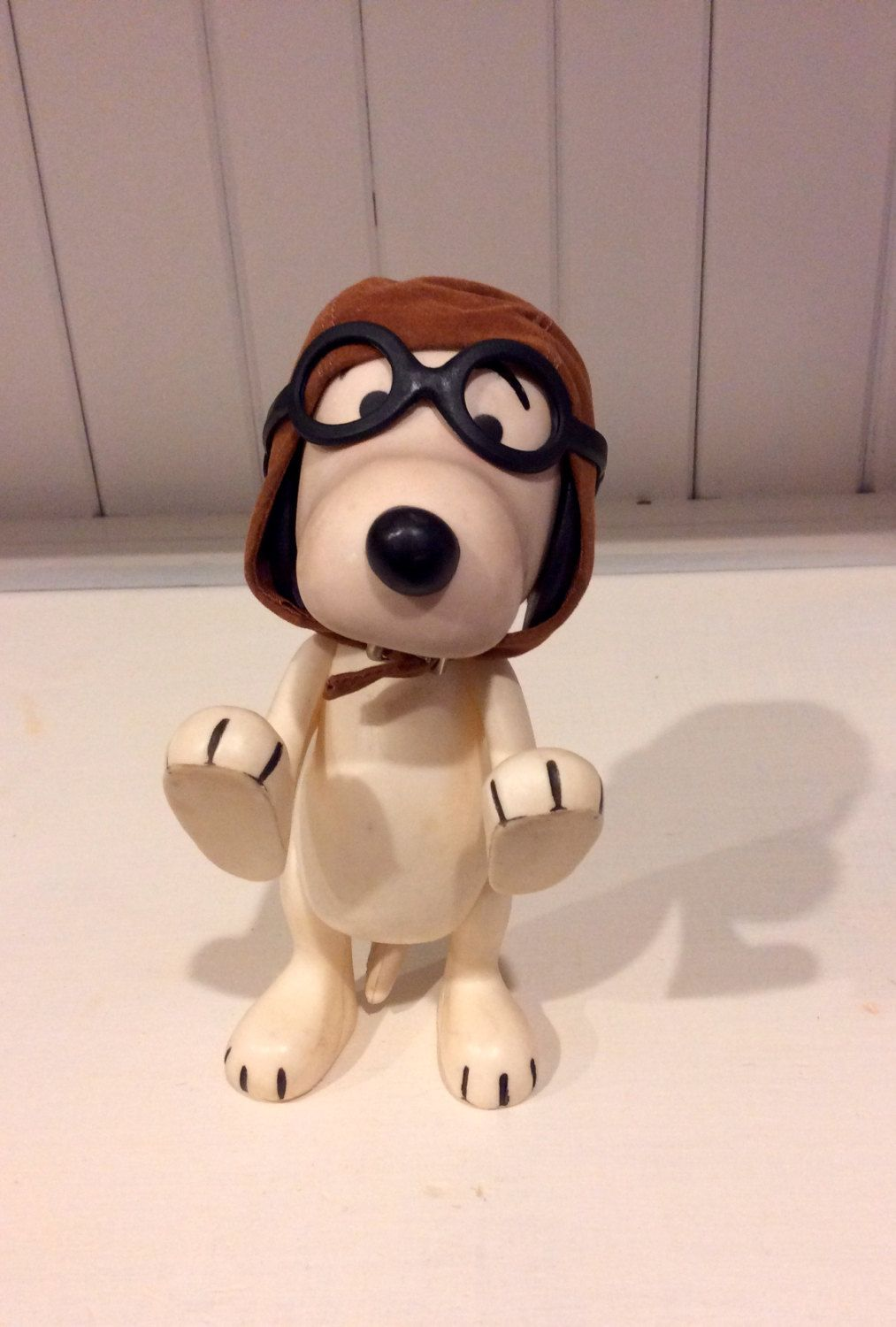 1966 United Feature Syndicate Red Baron Pilot Snoopy Poseable Vinyl Doll Colorful Toys Vinyl Dolls Kids Room