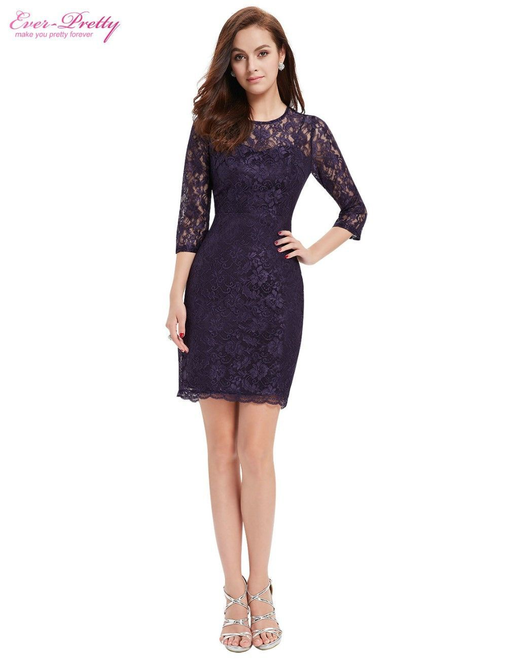 Ever Pretty Cocktail Three Quarter Sleeve Slim Lace Dress | Products ...