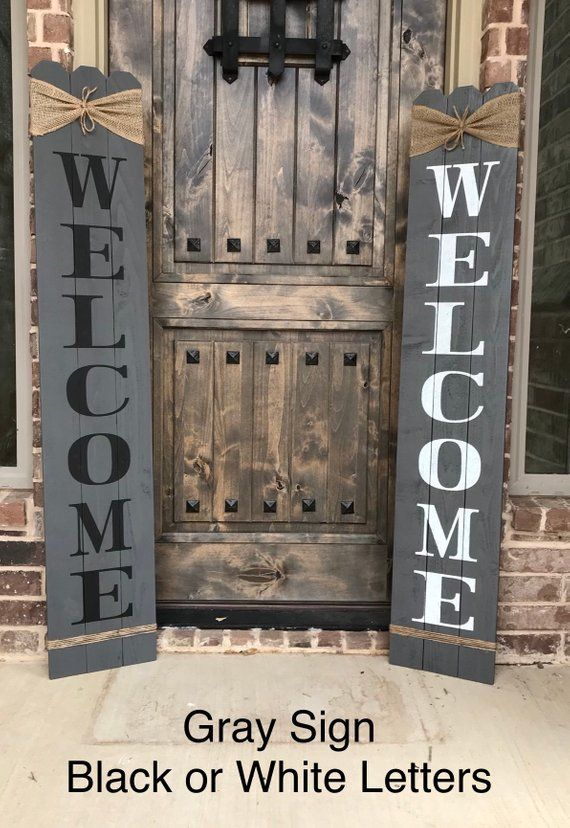 This Rustic Welcome Sign Will Add Charm To Your Front Porch My Signs