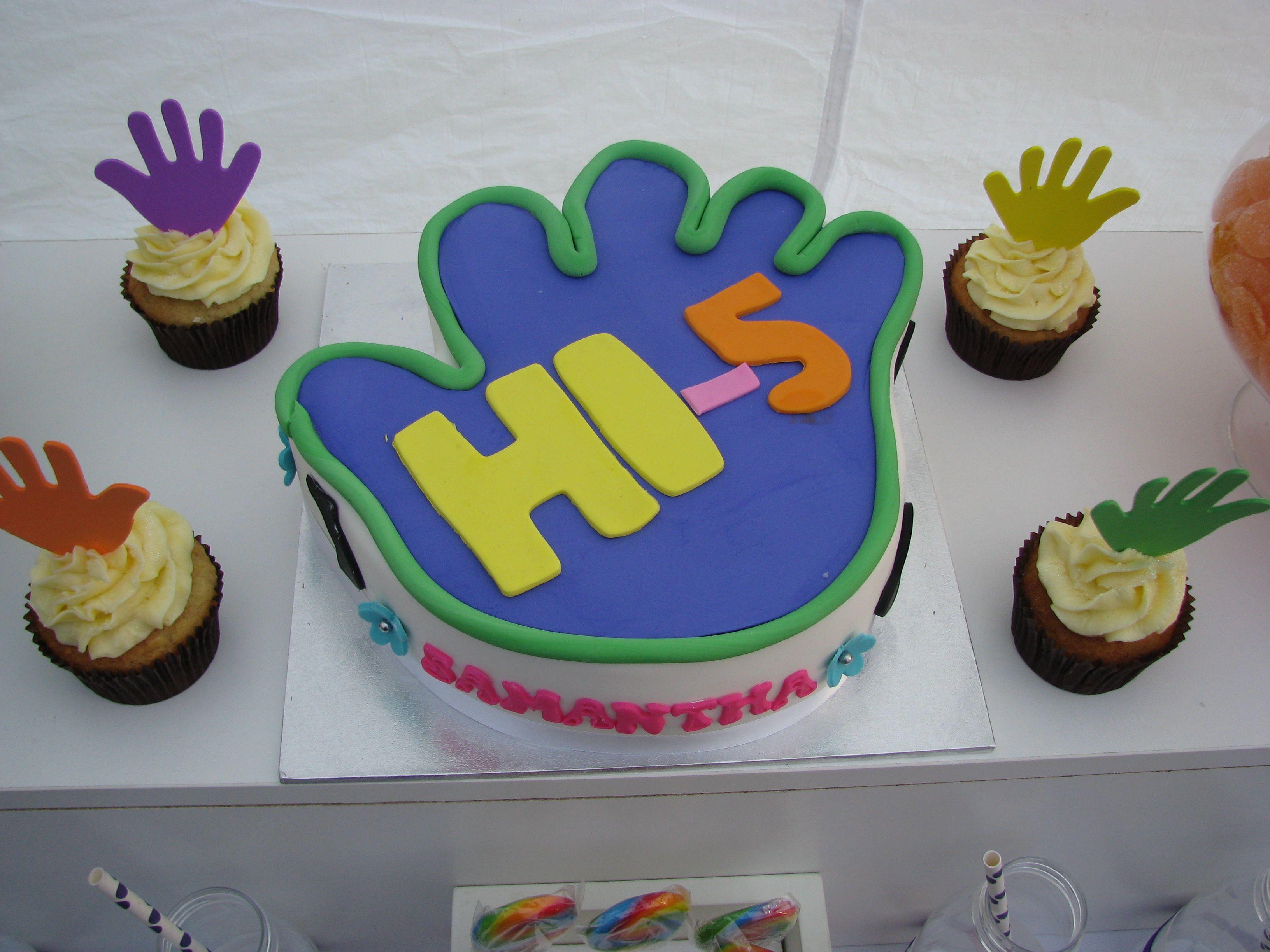 Hi 5 Cake Year Old Birthday Theme