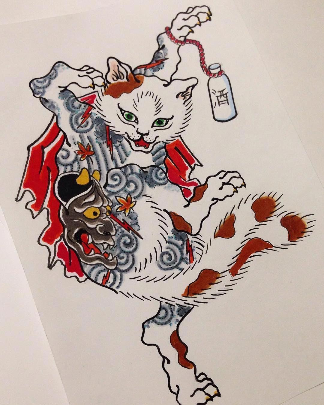japanese tattoos meaning Japanesetattoos Cat tattoo
