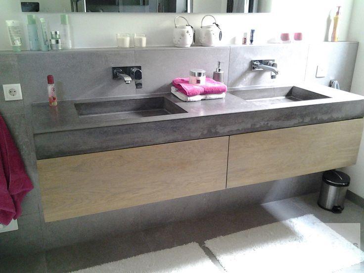 Afbeeldingsresultaat voor betonnen wasbak 120 betonnen for Dubbele wasbak