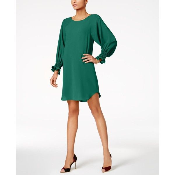 fae258c8f6cd Nine West Bishop-Sleeve Dress ( 79) ❤ liked on Polyvore featuring dresses