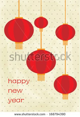 Chinese Lantern Template | chinese lantern chinese lunar new year poster template vector ...