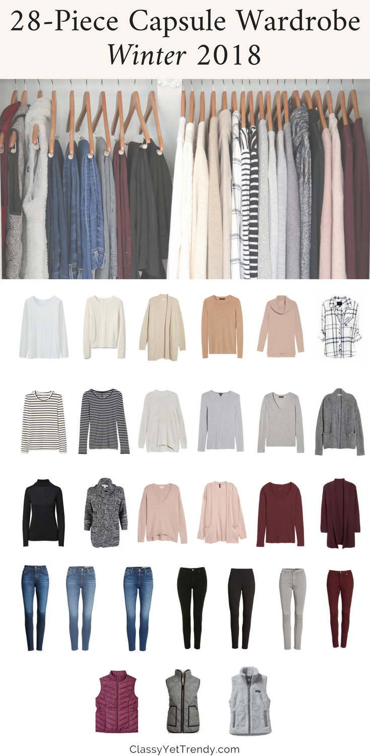 Capsule Wardrobe: My Winter 2017 Capsule Wardrobe