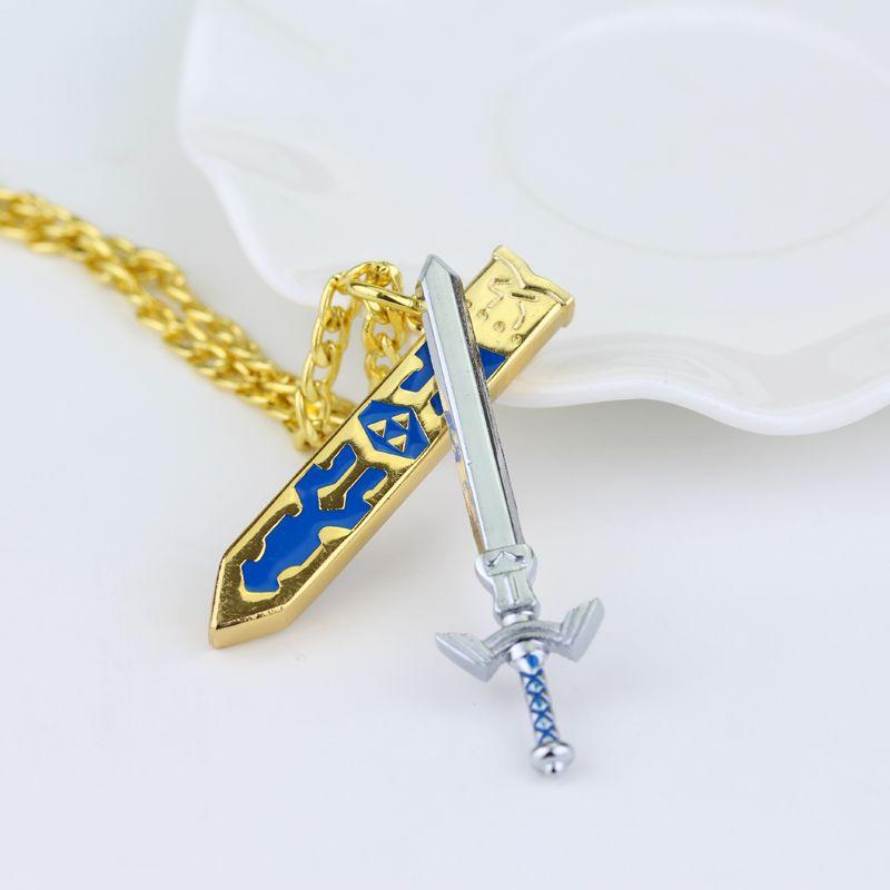 Game Legend Of Zelda Verwijderbare Master Sword Cool Hanger Goud kleur Ketting Voor Mannen Van Hoge Kwaliteit Geschenken Sieraden Gratis verzending