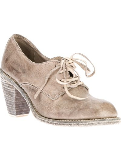 GUIDI - distressed lace-up bootie 6