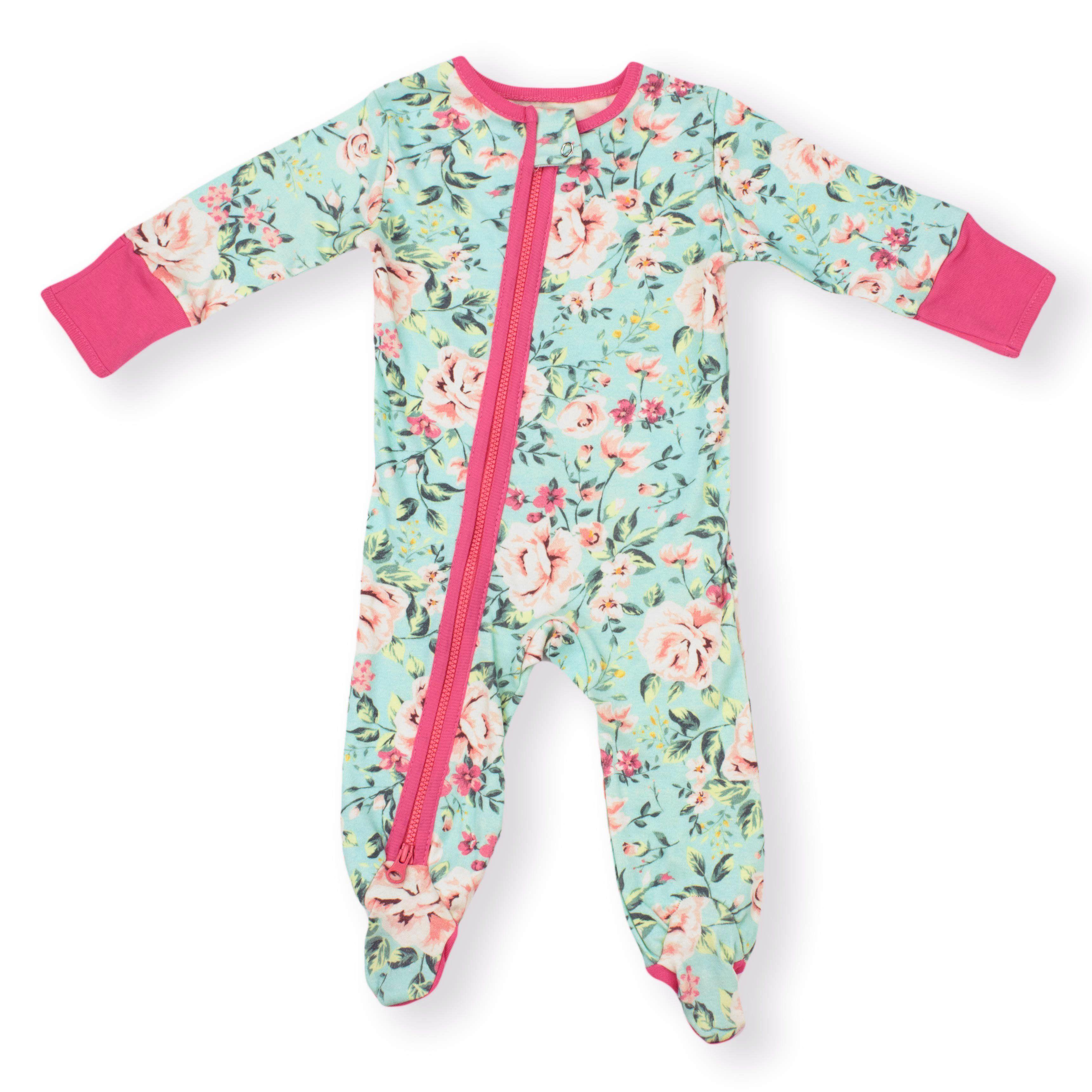 d98cfe56fcd8 Organic Baby Zipper Sleeper Pajamas 2-way Zip  Antique Rose ...