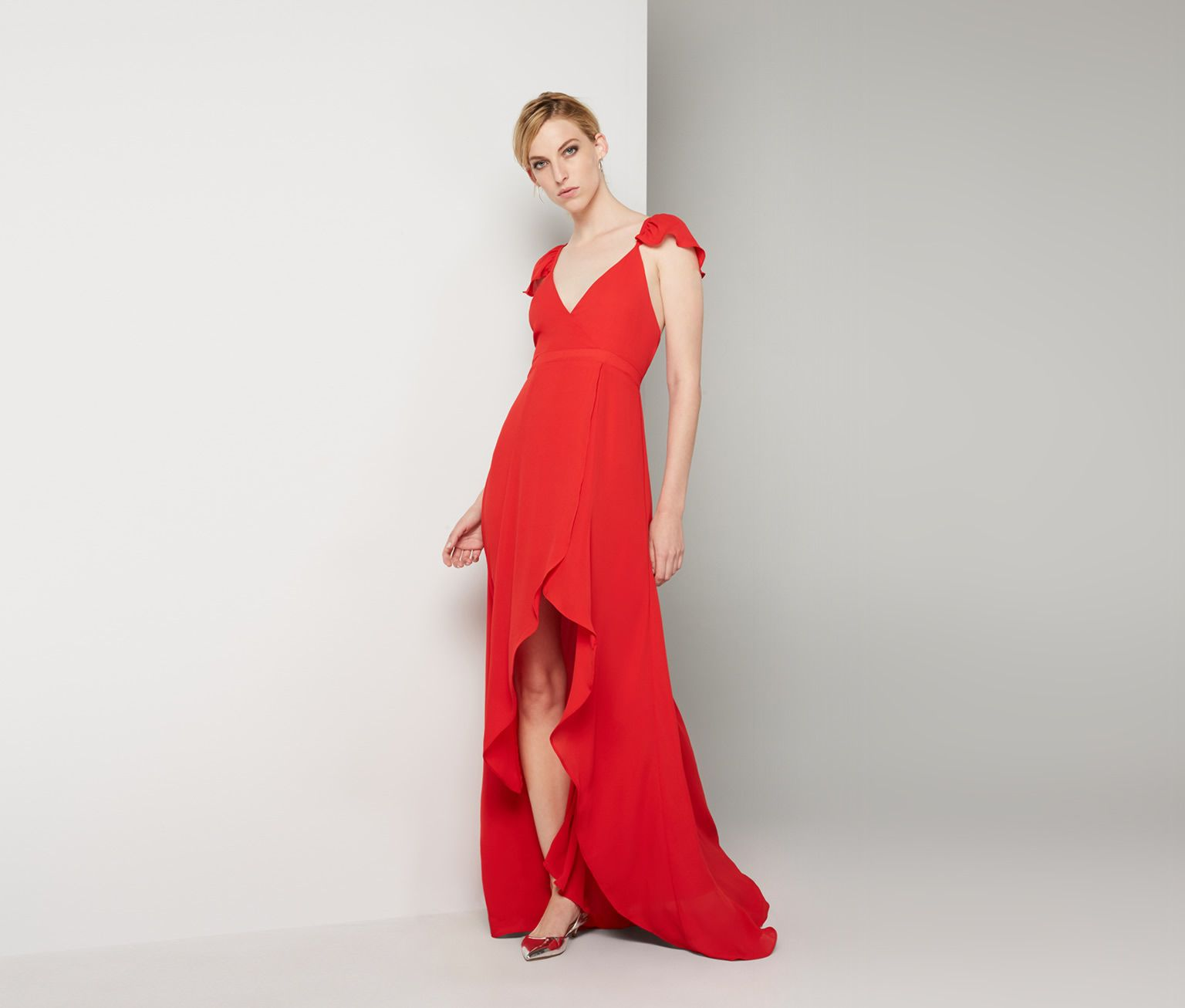 Red high places dress fame u partners usa my gals pinterest