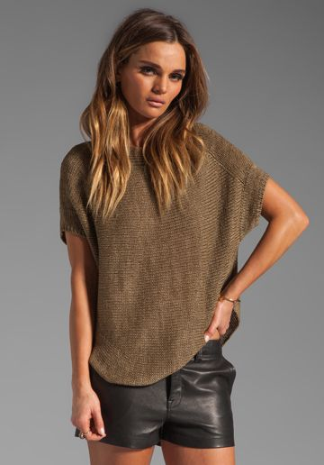 Lust.in sweater form...Vince Short Sleeve Boat Neck Sweater in Sage