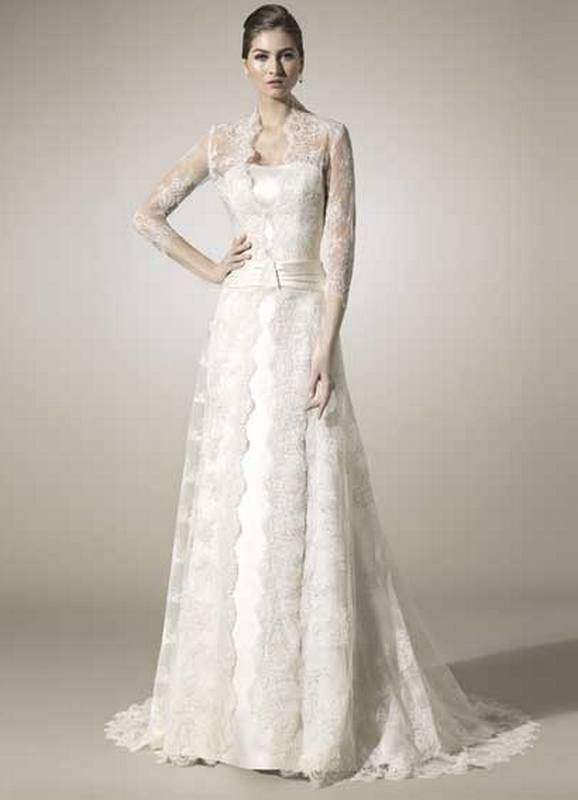 Wedding attire for older brides wedding dresses for for Older brides wedding dresses