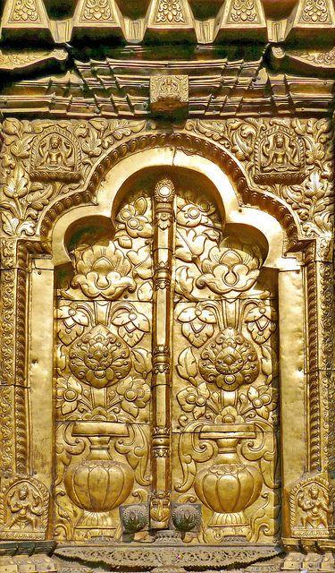 Nepal Changu Narayan Temple Golden Temple Door 22