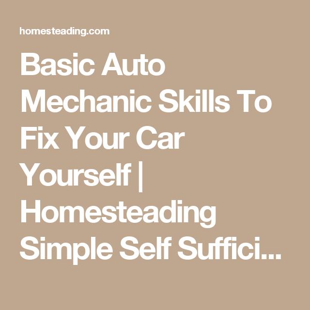 auto mechanic skills