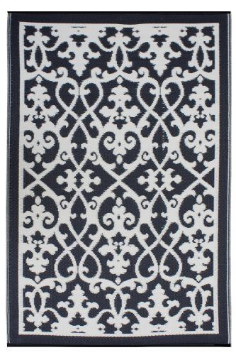 Fab Habitat 4 Feet By 6 Feet Venice Indoor Outdoor Rug Cream And Black By Fab Habitat Fab Rug Http Www Fab Habitat Outdoor Rugs Indoor Outdoor Area Rugs