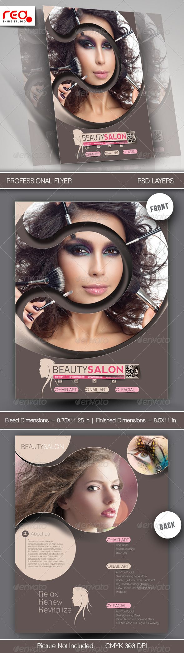 Beauty Salon Promotion Flyer Template  Salon Promotions Flyer