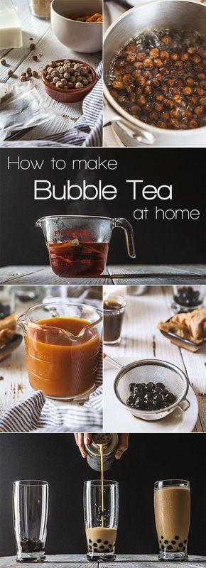 how to make bubble milk tea at home