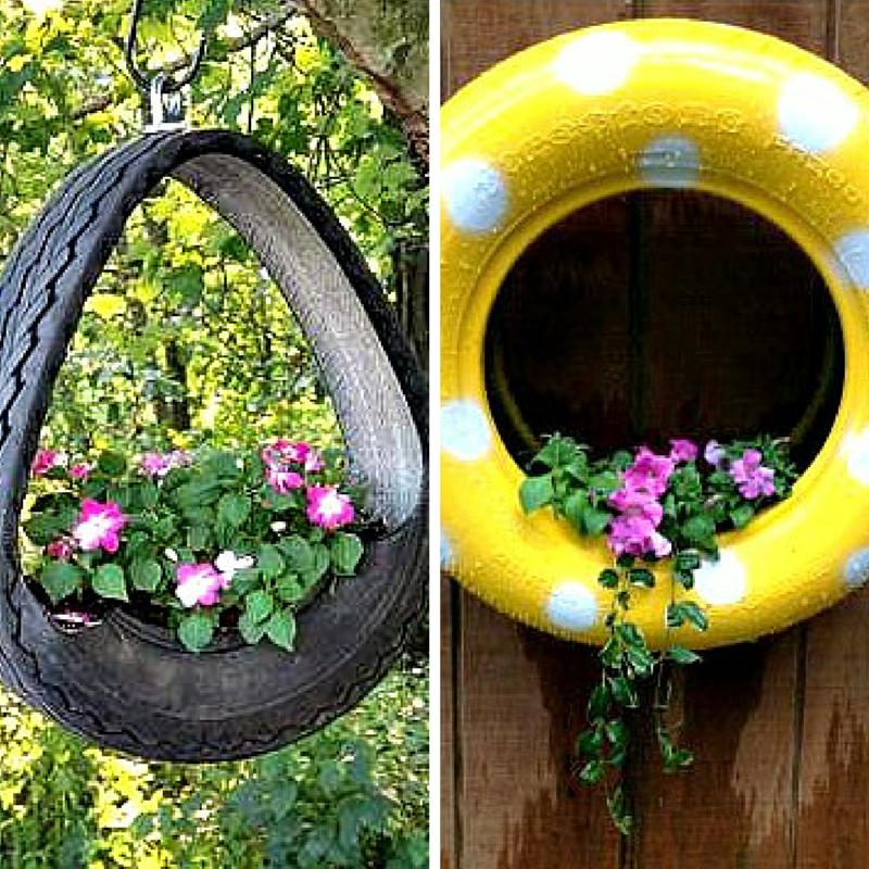 Recycler vos pneus usagés en jardinières... ou Comment être un pro ...