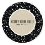 Black Glitter & Rustic Kraft Fall Sparkle Favor Classic Round Sticker #weddinginspiration #wedding #weddinginvitions #weddingideas #bride