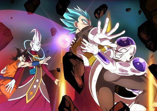 Goku Vegeta Whis And Frieza Anime Dragon Ball Super Anime Dragon Ball Dragon Ball Image