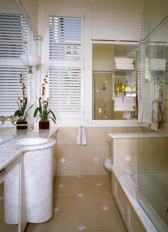 bathroom wallfaucet customvanity  narrow bathroom