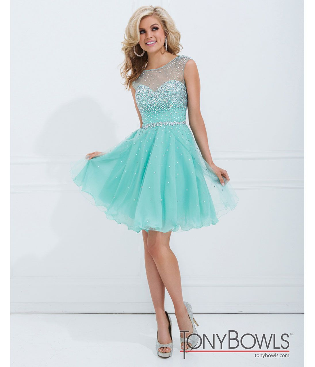Unique Vintage | Tony bowls, Short prom dresses and Short prom