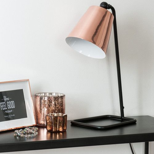 Lampe De Bureau Orientable En Metal Cuivre H 40 Cm Walter Lampe De Bureau Decoration Chambre Parentale Lampe