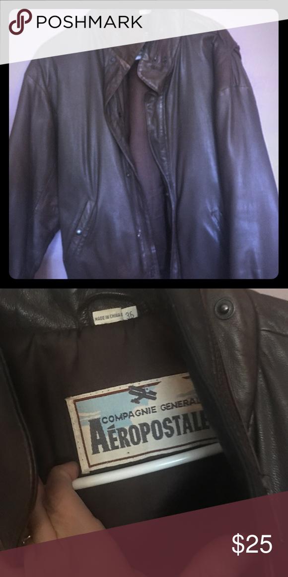 8026e5790 Men's Aeropostale bomber jacket Men's brown Aeropostale bomber ...