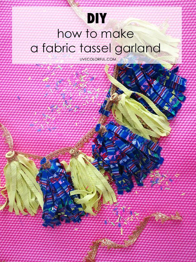 how to make a fabric tassel garland como hacer una guirnalda de borlas o pompones de flecos - Hacer Guirnaldas