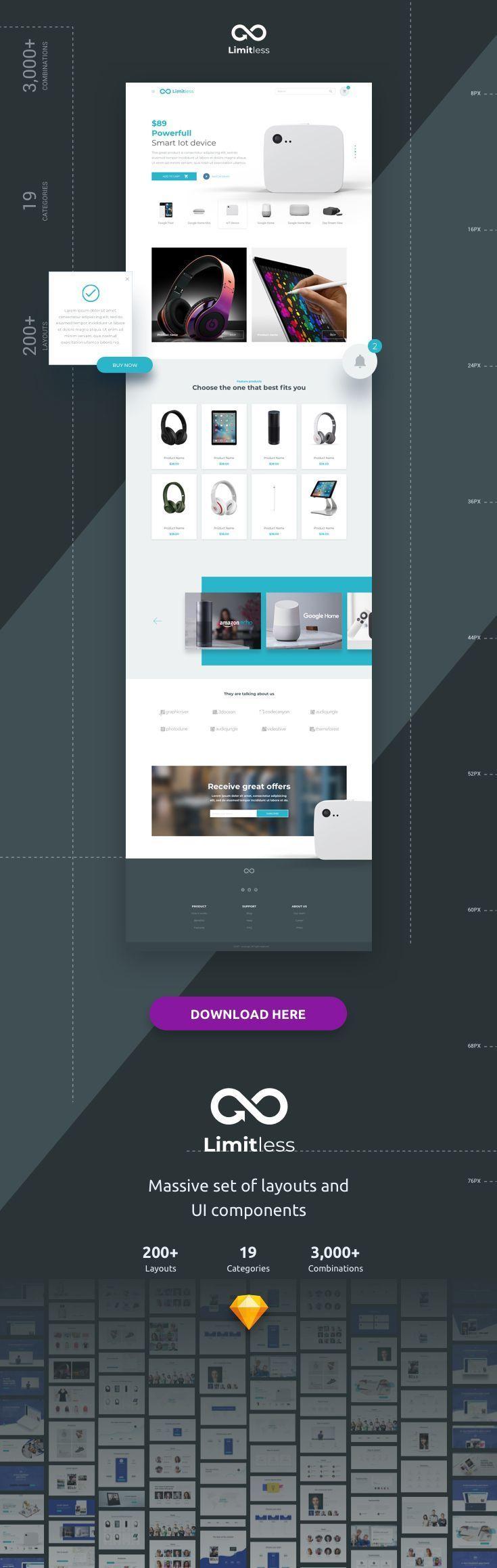 Limitless Web Design Projects Web Design Modern Web Design