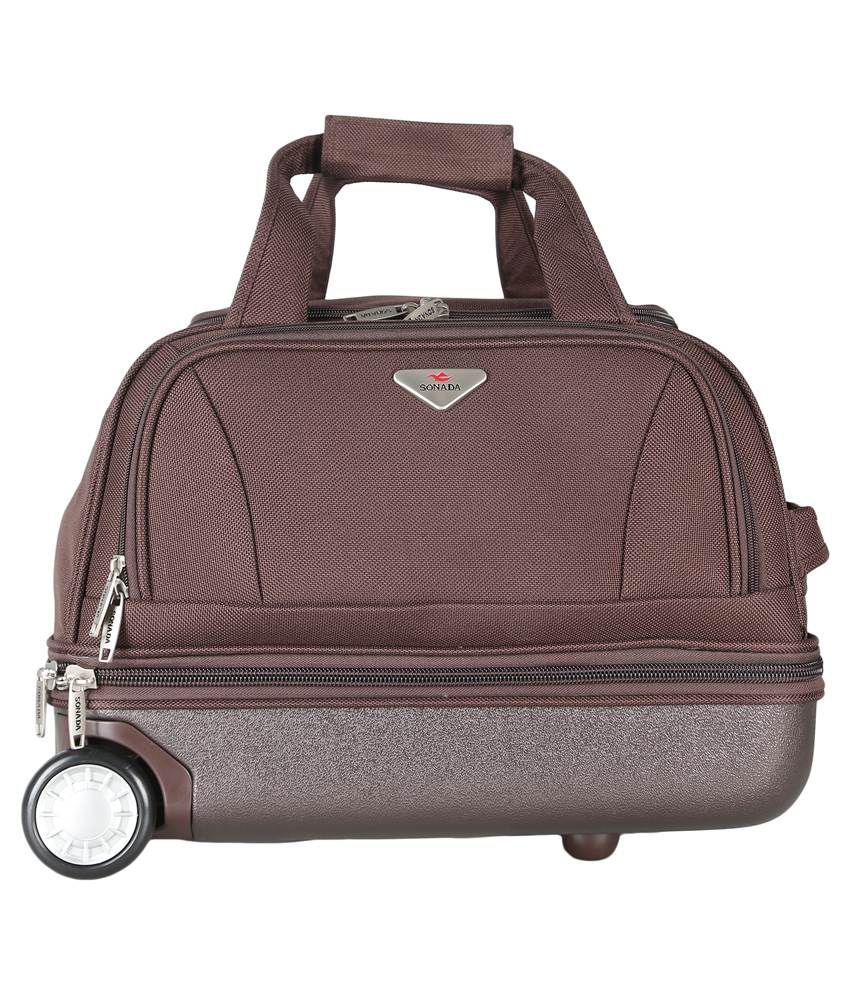 a54d3041ab03 Sonada Brown Duffle Trolley Bag Hurry up! View Collection on Elala.in   EvereythingOnElala  shoppingbinacompromise  discount  travel  duffles   india ...