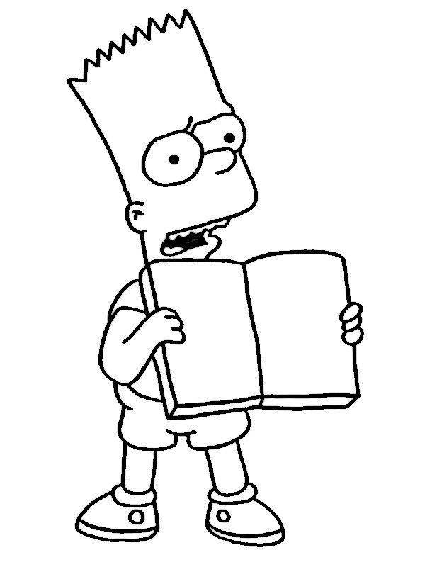 simpsons ausmalbilder zum ausdrucken | Ausmalbilder Simpsons | Pinterest